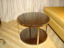 Timber_Veneered Lounge Table With Tempered Glass Top
